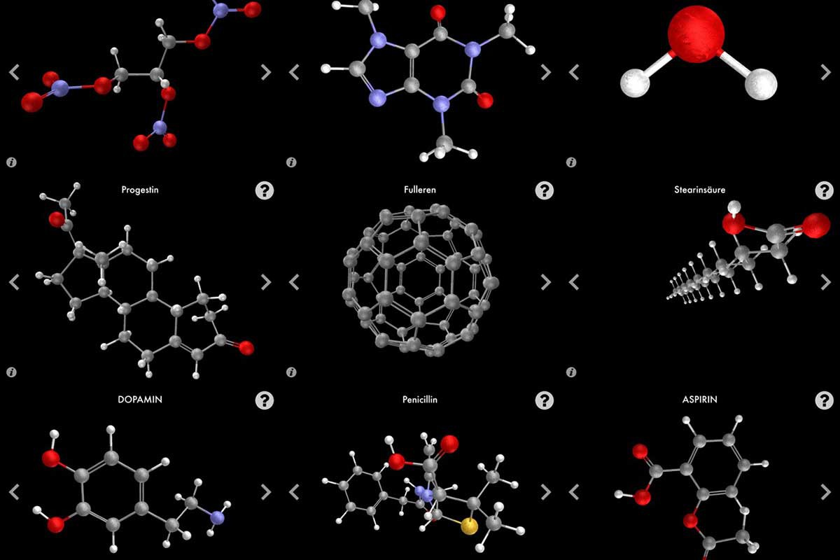 """Image:""""Molecules that changed the World"""" App is launched"""
