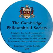 Blue Plaque, Saints Passage, Cambridge